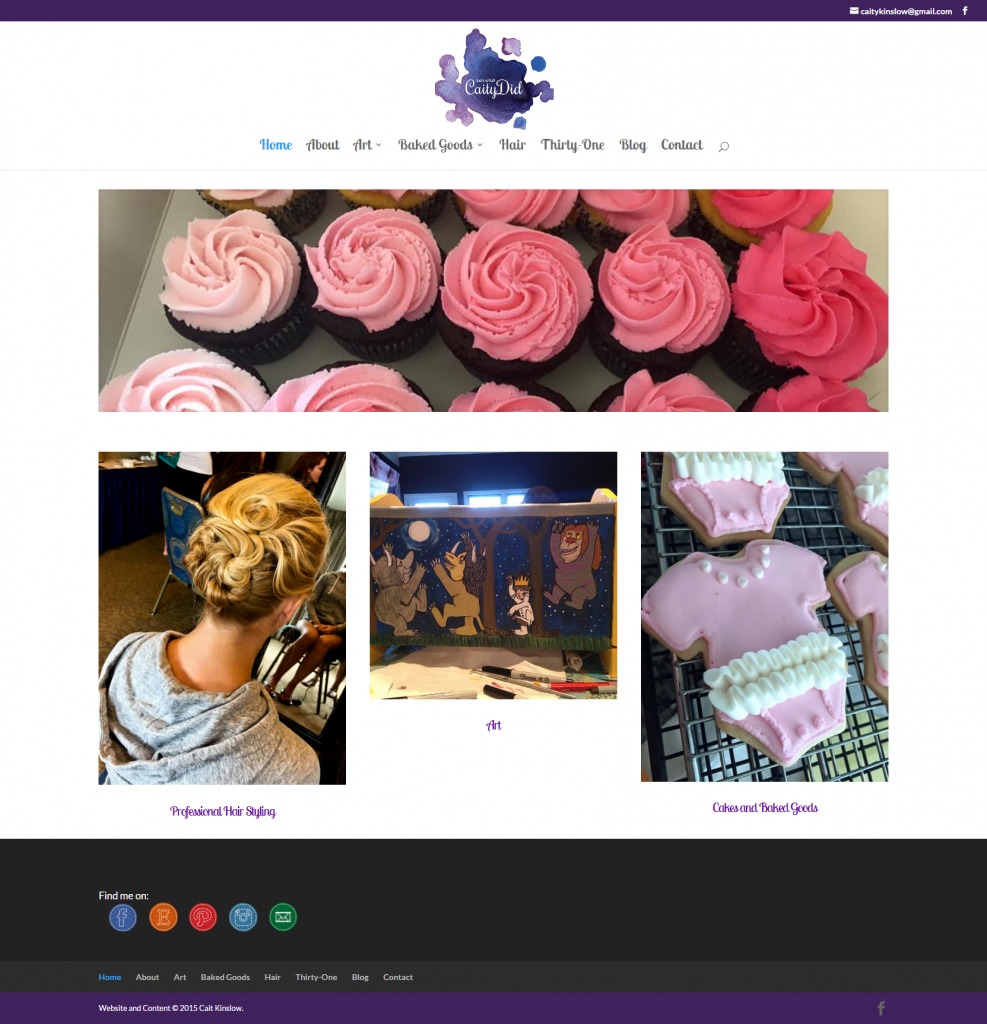 Look What Caity Did – Your go to girl for professional hairstyling baked goods and hand crafted items.