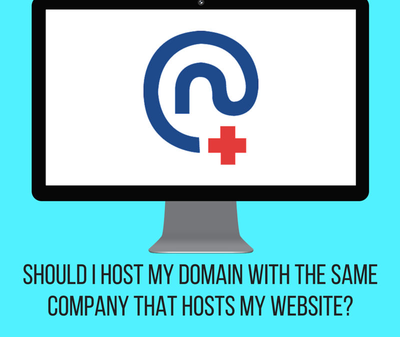 Should I host my domain with the same company that hosts my website?
