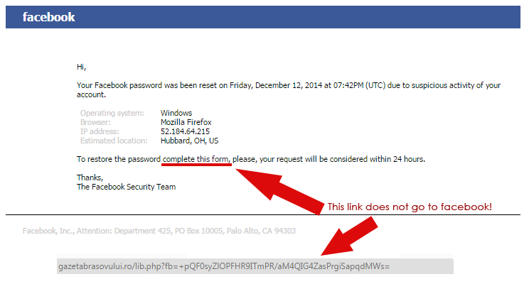 Plus Alert Phishing Networks Email Fake Facebook