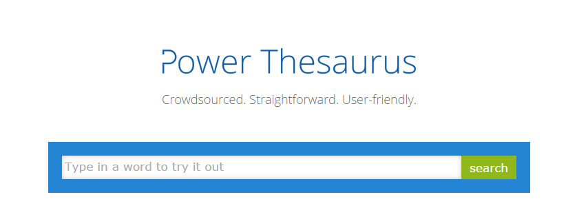 Power Thesaurus Dictionary