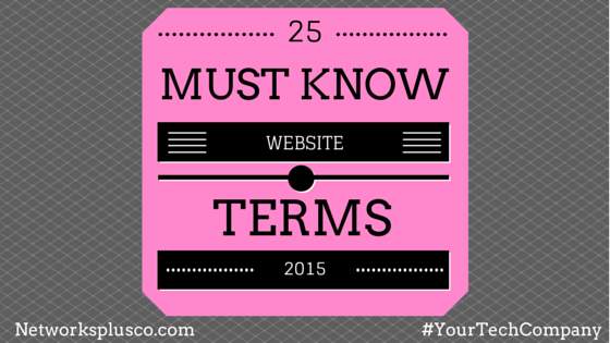 25 Must Know Web Terms