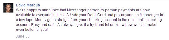 Payment Facebook