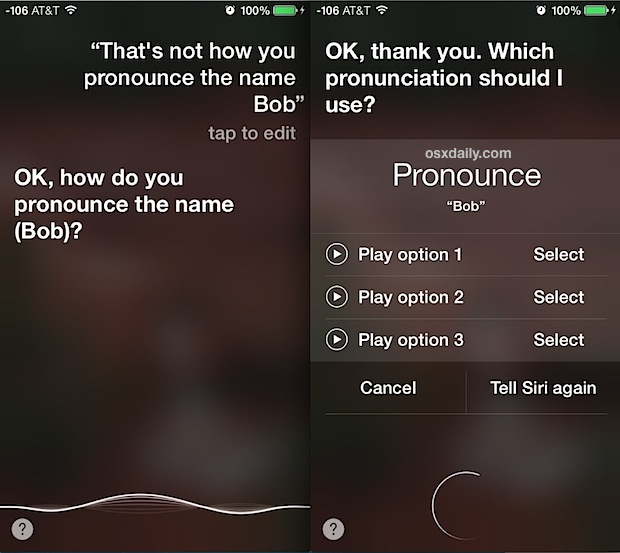 how to change your name on iphone siri