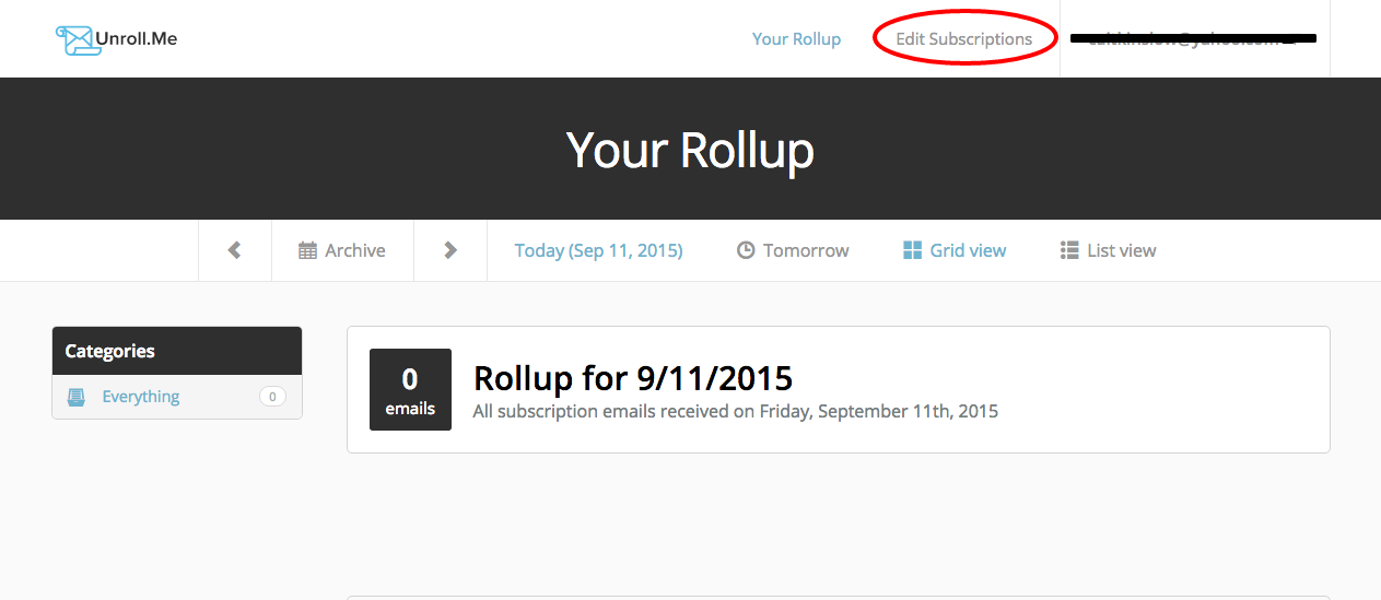 Today s Rollup – Unroll.Me