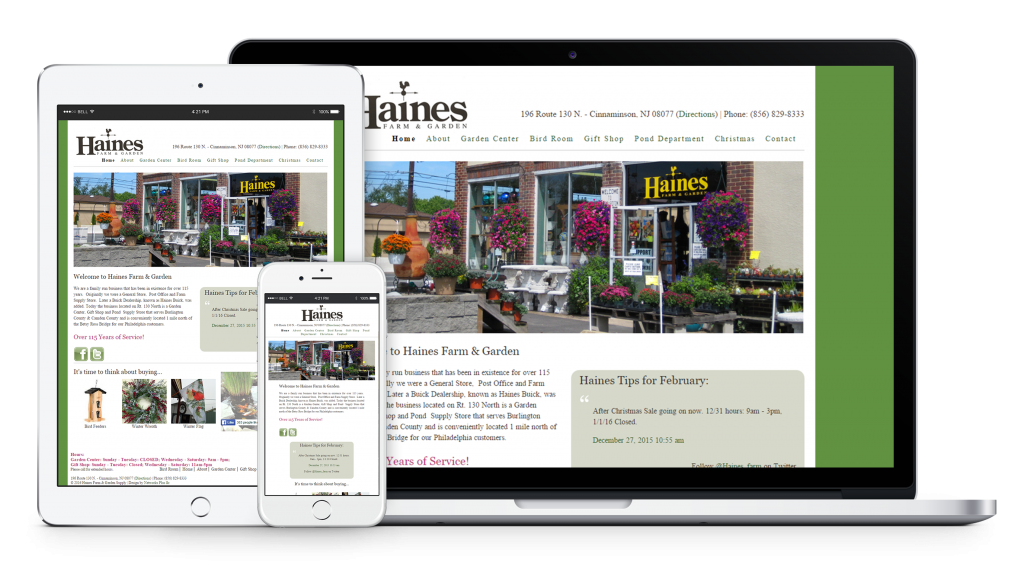 Haines Farm U0026 Garden Website Redesign, WordPress, Responsive