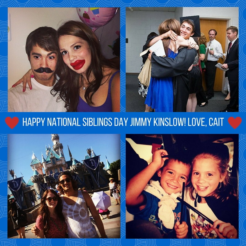 Happy National Siblings Day Jimmy Kinslow!