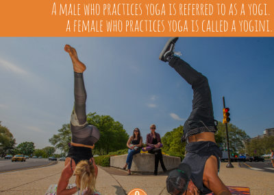 A male who practices yoga is referred to as a yogi.A female who practices yoga is called a yogini. (1)