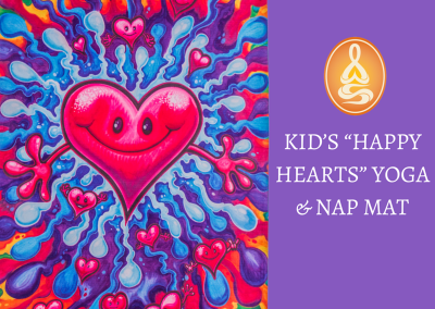 "KID'S ""HAPPY HEARTS"" YOGA & NAP MAT"