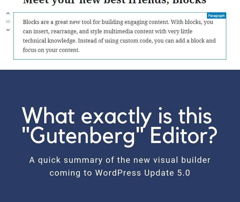 What is Gutenberg Editor?